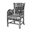2 - chairs settees benches