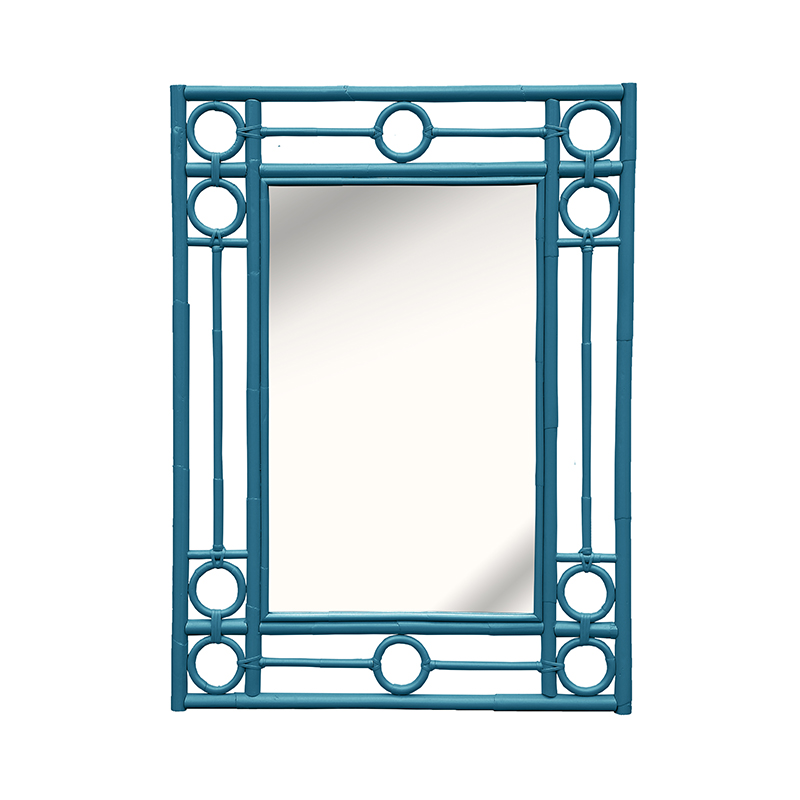 Blue Wall Mirror moderne maru accent mirror | red egg