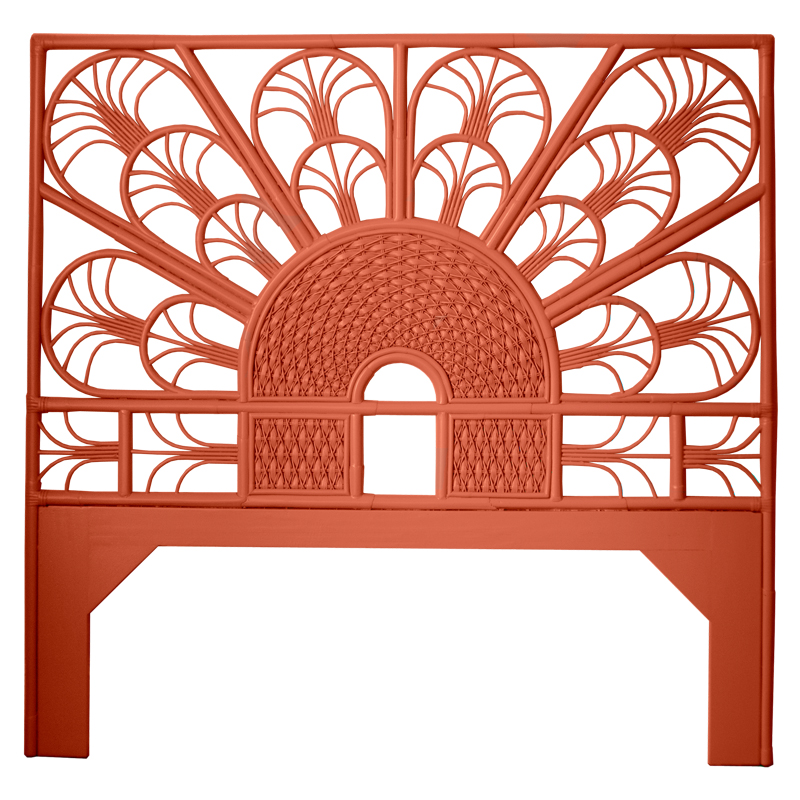 Moderne Maru Headboard – Peacock Queen and Eastern King