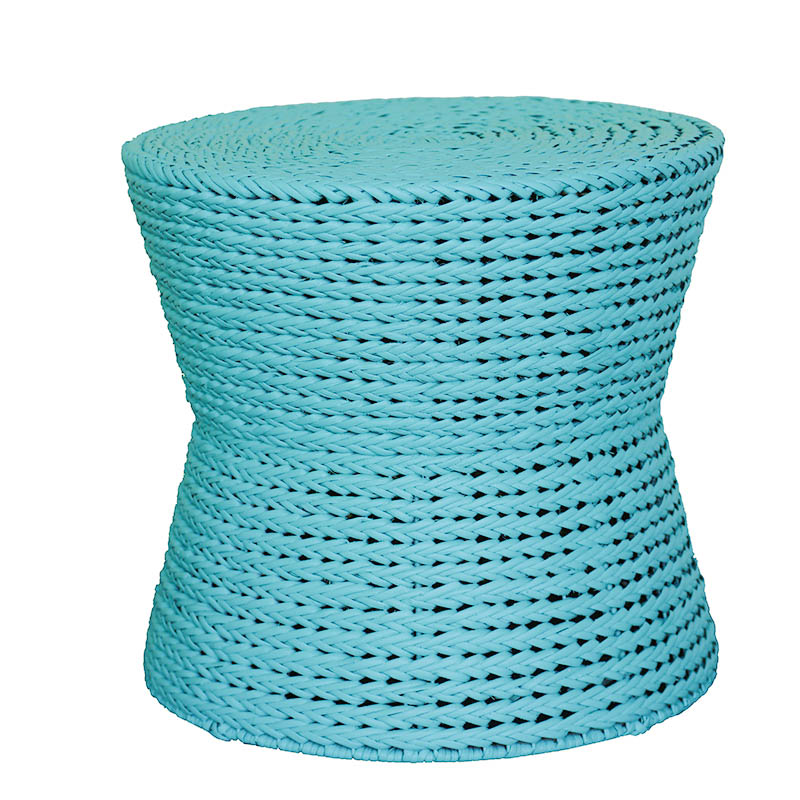 Moderne Maru Island Naturals Ottoman Braided Spool Painted