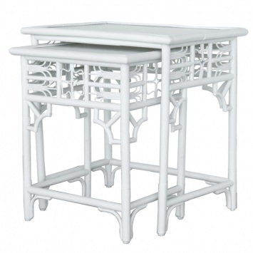 Indochine nesting tables white