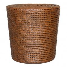 Moderne Maru Island Naturals Ottoman Braided Drum DK Amber