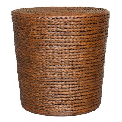 NAT305 Ottoman Braided Drum DK Amber