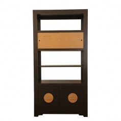 Shanghai Loft-Etagere Double File w/ Sliding Door