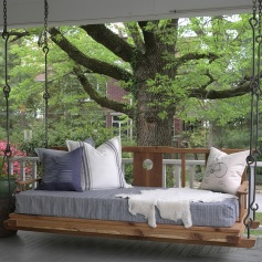 Double Happiness Hanging Porch Bed