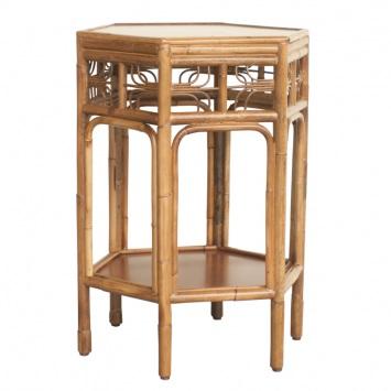indochine_octagonal_end_table_vintagecane_red_egg