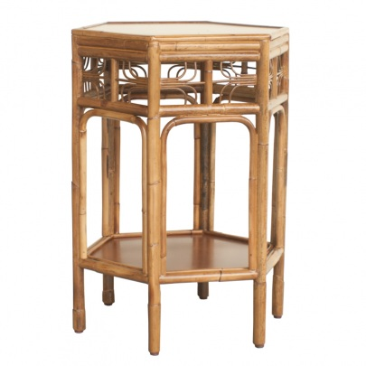 indochine_octagonal_end_table_vintagecane_red_egg
