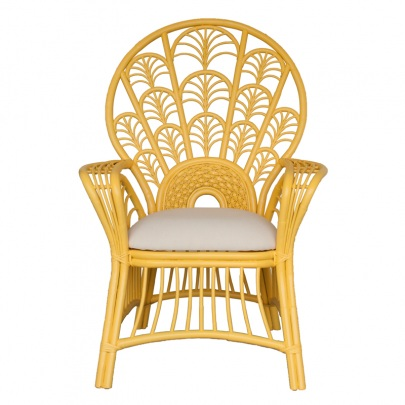 yellow peacock chair