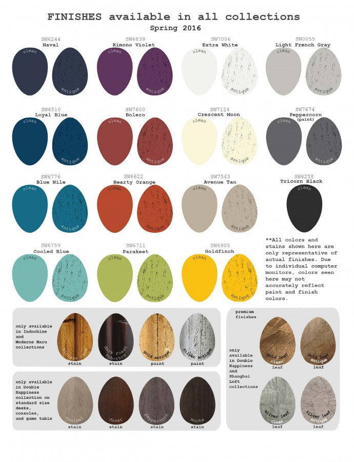 red egg Color Chart Spring 2016